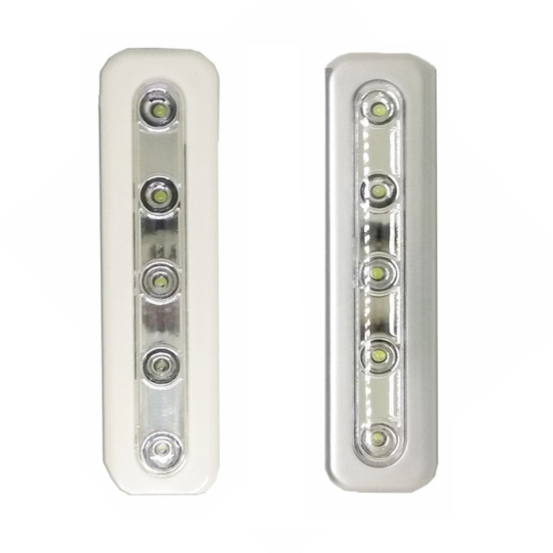 FENGLAIYI 1/5/10 Pc Mini Self-adhesive Wireless Closet Light 5 LED Home Lighting Night L ...