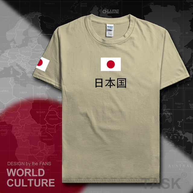 Nipón japonés t camisa hombre 2017 Camiseta de algodón Equipo Nacional tee 100% de reunión de fans streetwear fitness JPN japonés país JP