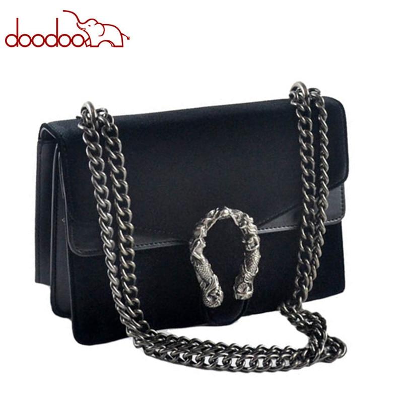 Luxury Brand Fashion Velvet Women Shoulder Bag Lady Chain Messenger Crossbody Bags Famous Designer Lock Handbags Black/Green/Red shoulder bag