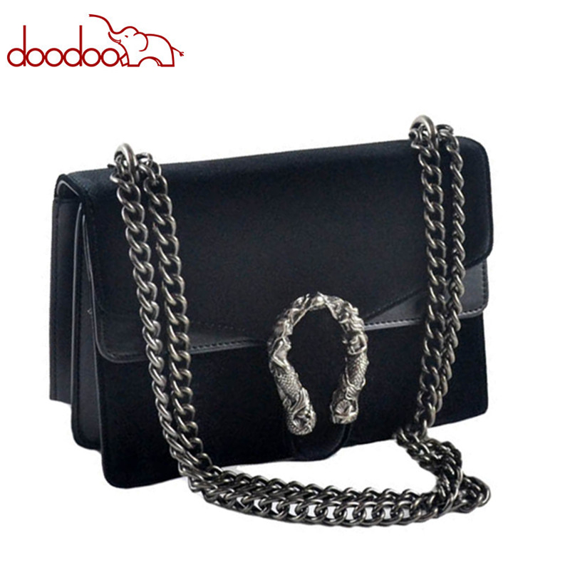 Luxury Brand Fashion Velvet Women Shoulder Bag Lady Chain Messenger Crossbody Bags Famous Designer Lock Handbags Black/Green/Red hot sale luxury brand fashion chain casual shoulder bag messenger bag famous designer velvet leather women crossbody bags clutch