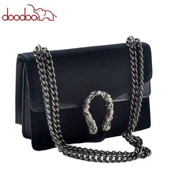 Luxury Brand Fashion Velvet Women Shoulder Bag Lady Chain Messenger Crossbody Bags Famous Designer Lock Handbags BlackGreenRed shoulder bag