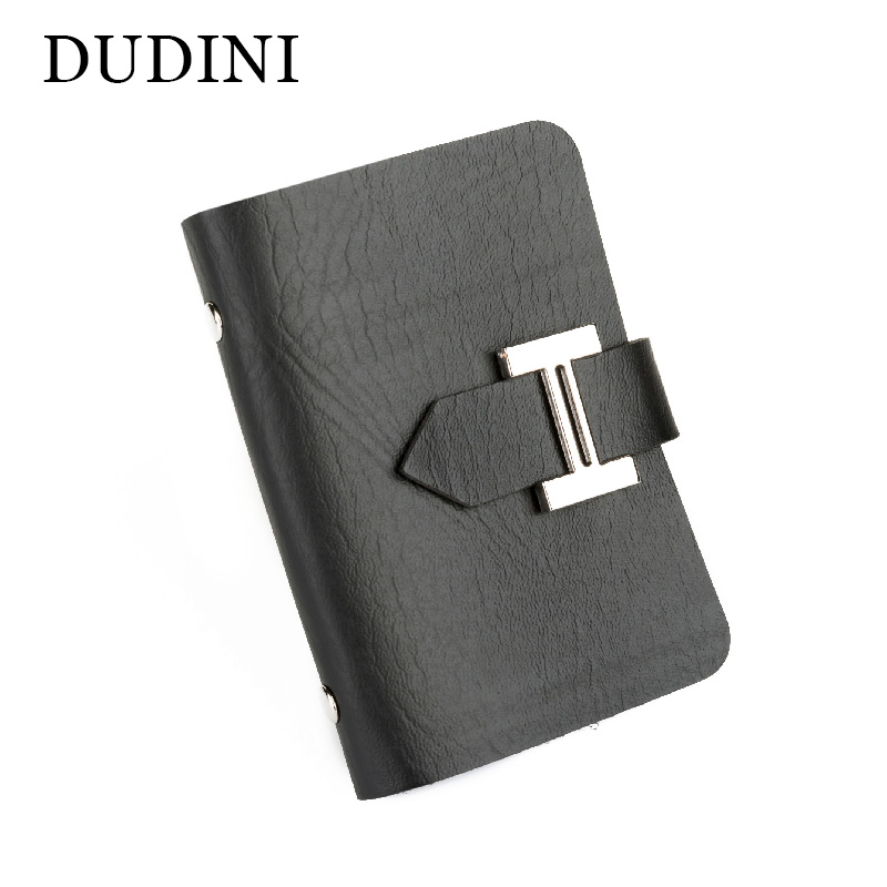DUDINI New Men & Women Business Cards Wallet Simple PU Leather Credit Card Holder/Case Fashion Bank Cards Bag ID Holders new luxury pu leather wallet business vintage credit card holder back cover case for iphone x s