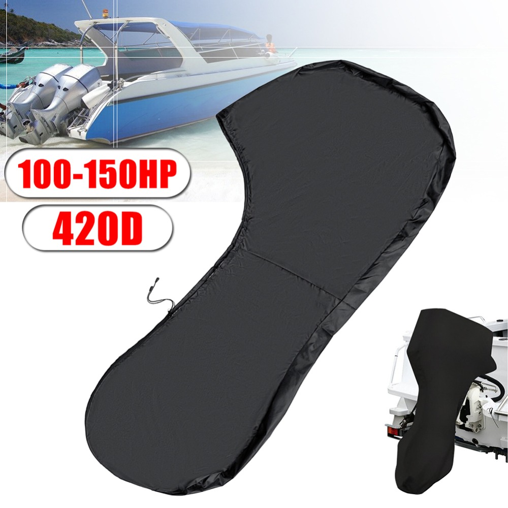 Waterproof 420 D Full Outboard Engine Boat Motor Cover For 6 -15HP Motor Boat Full Motor Cover Outboard Engine Protector