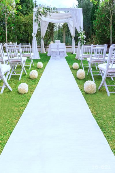 5x7ft Green Garden White Carpet Wedding Booth Chairs Stage Custom