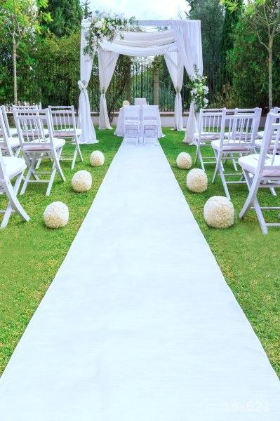 5x7FT Green Garden White Carpet Wedding Booth Chairs Stage Custom Photo Studio Backdrop