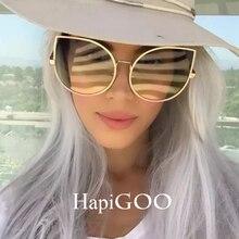 HAPIGOO Fashion Ladies Oversized Cat Eye Clear Sunglasses Women Big Glasses Frame 2017 New Brand Designer Sun Glasses For Female