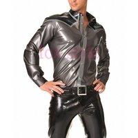 Men's nature rubber latex Long Sleeve shirt