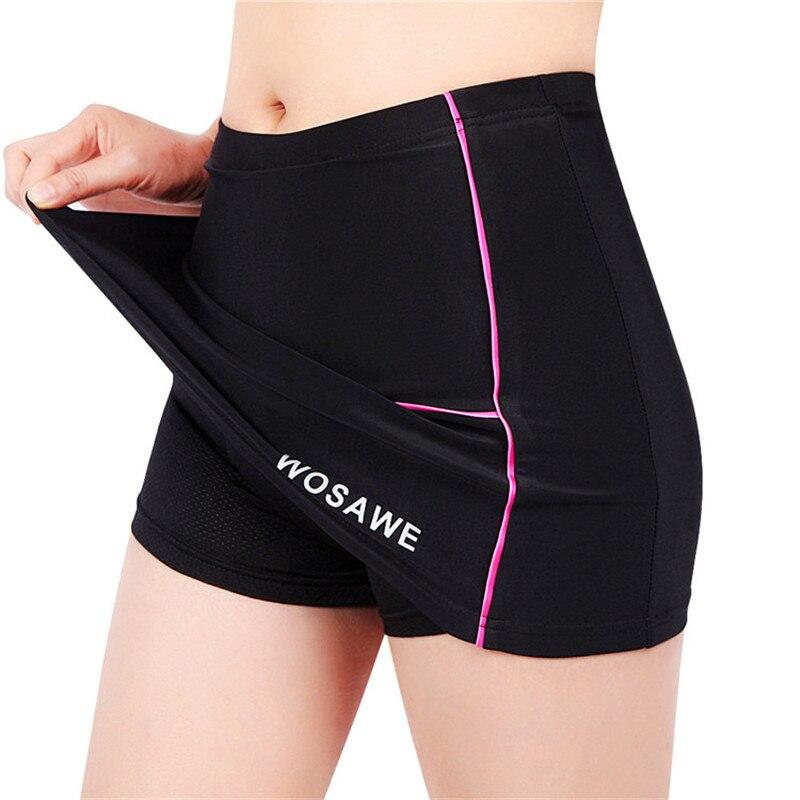 Цена за Wosawe женщины открытый спорт юбка 3d и бесшовные упругие велоспорт велосипед езда силиконовые юбки женщин велосипедные шорты юбки