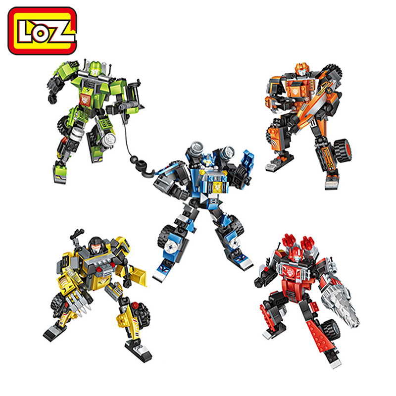 LOZ Devastator Change Robot  Mini Blocks 3D Model Educational Toy Child Adult Toys loz mini diamond block world famous architecture financial center swfc shangha china city nanoblock model brick educational toys