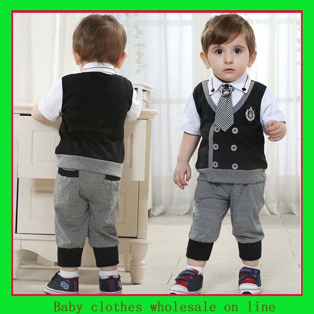 e5243a227732 Boys clothes sets baby shirt+baby pants+baby tie clothing september designer  baby clothes boys kids set