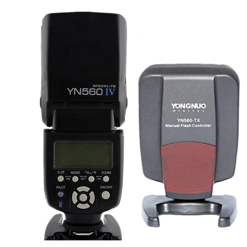 Yongnuo YN560 IV Мастер Радио Вспышка Speedlite с Yongnuo YN560 TX II Беспроводной флэш контроллер для Canon Nikon Olympus Pentax