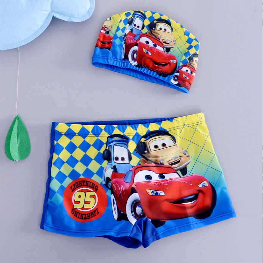 Mickey mouse Boys Swim Trunks 2-10 Years Kids Spiderman Swimwear Boys Swimsuit
