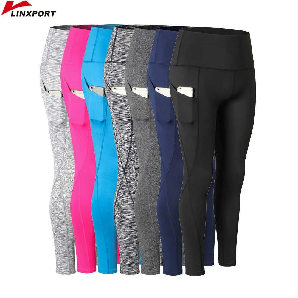 Women Yoga Capris High Elastic Fitness Leggings Cycling Pants Slim Running Tights Sportswear Sports Pants Trousers Gym Clothing