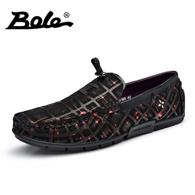 BOLE New Arrival Cow Suede Men Loafers Fashion Designer Slip on Comfort Men Leather Shoes Flats Casual Shoes Men Driving Shoes new arrival low price mens breathable high quality casual shoes suede canvas casual shoes slip on men fashion flats loafers