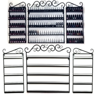 Homdox 5 Layer 3 Pcs Set Lace Iron Nail Polish Shelf Display Wall Rack With 2