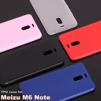 Meizu m6 note case silicone matte cover Soft TPU case for meizu m6 note Non-slip Anti-fingerprint