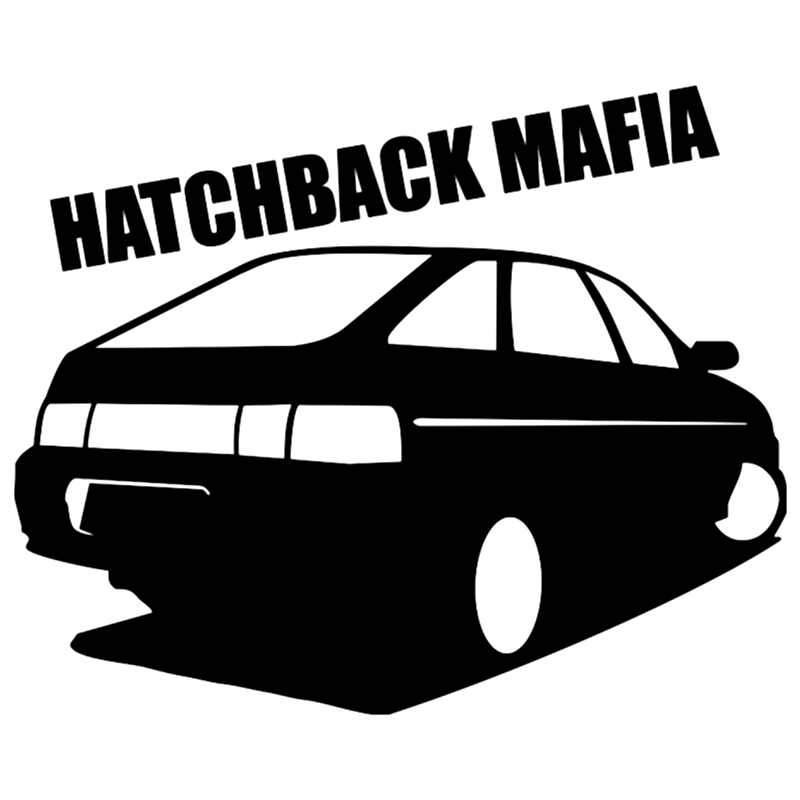 CK2186#20*16cm hatchback mafia 2112 funny car sticker vinyl decal silver/black auto stickers for bumper window decor