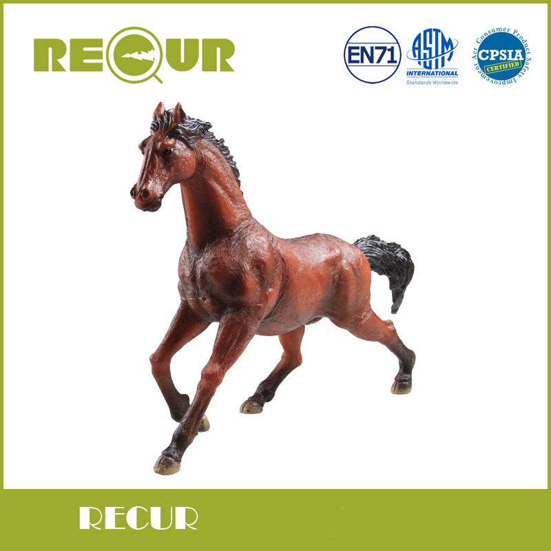 где купить Recur Toys High Quality Horse Model High Simulation PVC Toy Hand Painted Animal Action Figures Soft Animal Toy Gift For Kids по лучшей цене