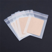 20pcs/lot Earrings Packing Bag (opp+paper) Jewelry Packaging Card Pouches Ear Display Bags