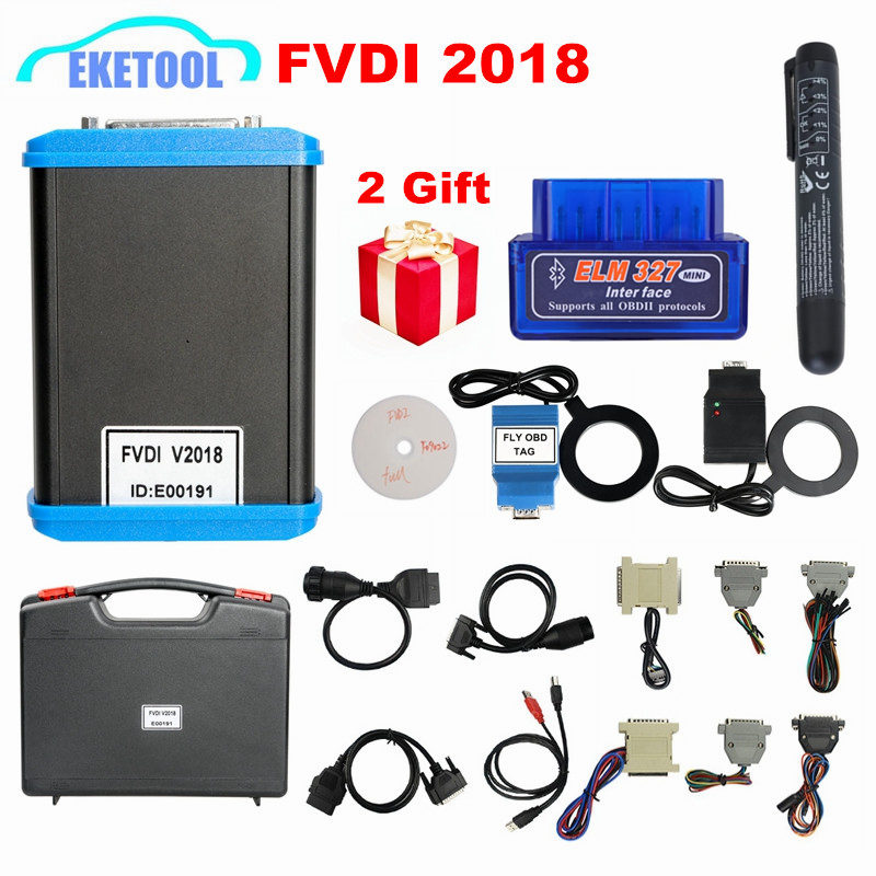 Original Newest FVDI 2018 Full Version 18 Software ABRITES Commander No Time Limited Covers FVDI 2014 2015 VVDI Function