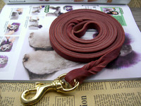 Pet Heavy Duty Handmade Braided Dog Training Leash Strong Dog Genuine Leather Soft Durable Leash