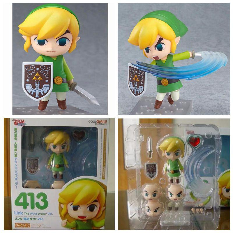 Original box  Legend of Zelda Link Nendoroid PVC Action Figure Legend of Zelda Link Figure Game Legend of Zelda Model kids toys