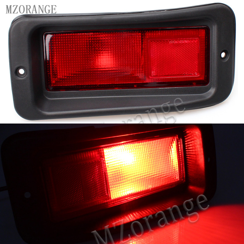 MZORANGE 1 Pair Tail Rear Bumper Light Lamp Set Kit For Mitsubishi Pajero MONTERO Sport 1999-2008 Left / Right Brake Light rear fog lamp spare tire cover tail bumper light fit for mitsubishi pajero shogun v87 v93 v97 2007 2008 2009 2010 2011 2012 2015