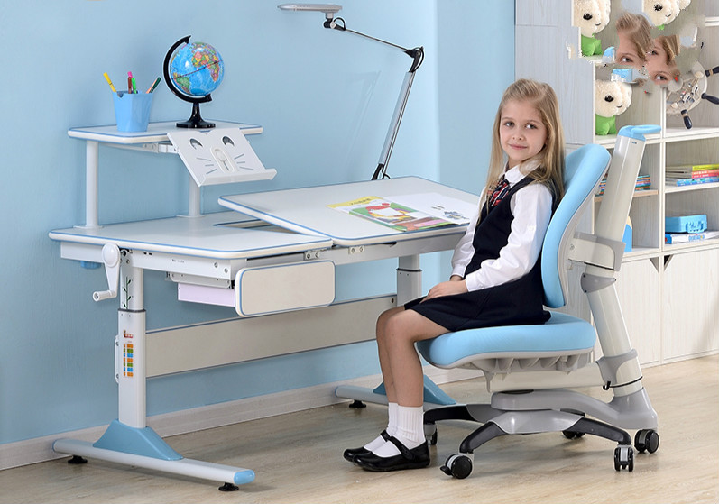 Love fruit learning table children lifting tables and chairs set high quality adjustable height protection vision for children learning set of table and chair
