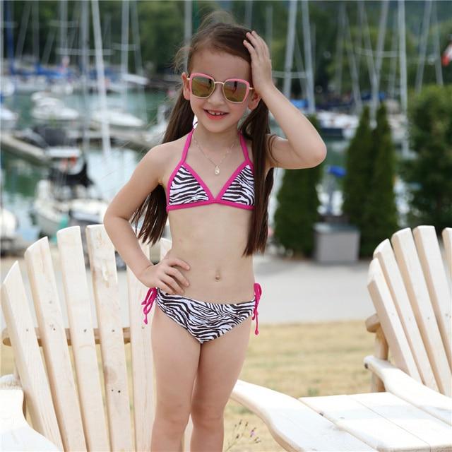 478877bc394c Meninas Bikini Set Bonito Da Cópia Da Zebra Crianças Modelos de Biquíni  Marca New Style Verão Criança Natação Custume Alta Qualidade Fatos de Banho