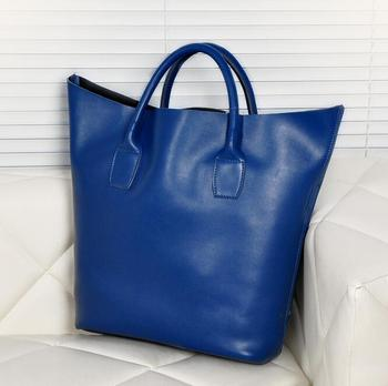newhotstacy bag 102616 women geniune leather bucket big tote bag