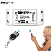 ITEAD Sonoff Wifi Intelligent Wireless Remote Control 433mHz RF Automation Timer ABS Universal Module Via App