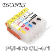 PGI-470 CLI-471 PGI 470 CLI 471 Refillable Ink Cartridge for Canon MG6840 MG5740 MG7740 TS5040 TS6040 6840 5040 PGI470 CLI471 цена 2017