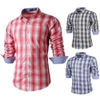 Hot sell 2017 New Men's brand Plaid Shirts Summer Slim Long-Sleeve Man Shirt Formal Casual Fashion Dress shirt Men's Shirts XXL