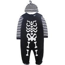 2pcs baby set!!Newborn Infant Baby Boys Girls Autumn Warm Cotton long sleeve Cartoon Jumpsuit + striped hat