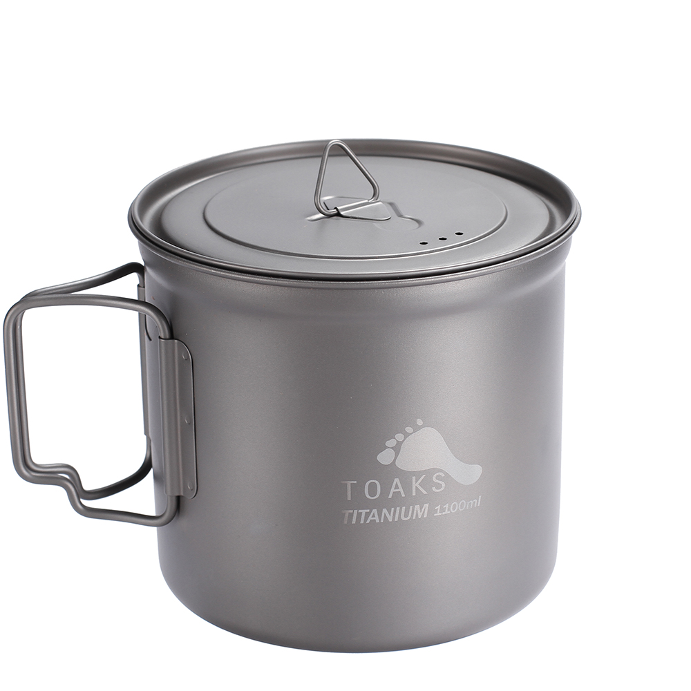 TOAKS POT-1100 Titanium Pot cup Outdoor Camping Bowl with Lid cute bear bowl with lid
