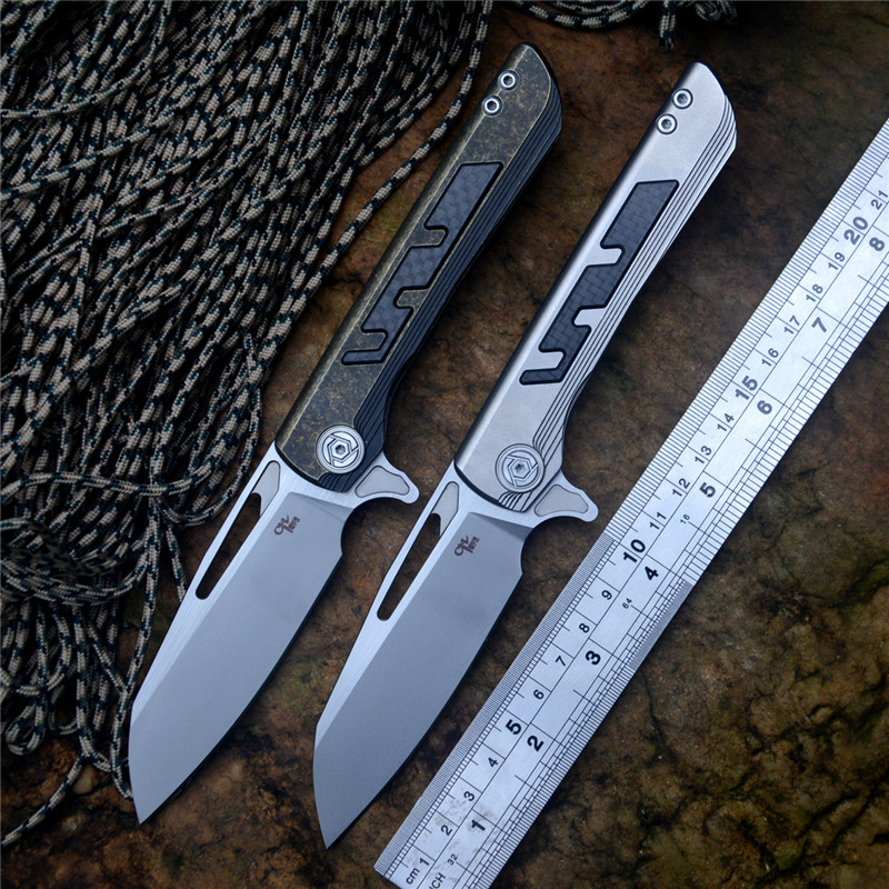 CH Flipper Butcher 2 Knife S35VN Blade ceramic ball bearing washer TC4 Titanium Handle Outdoor Hunting