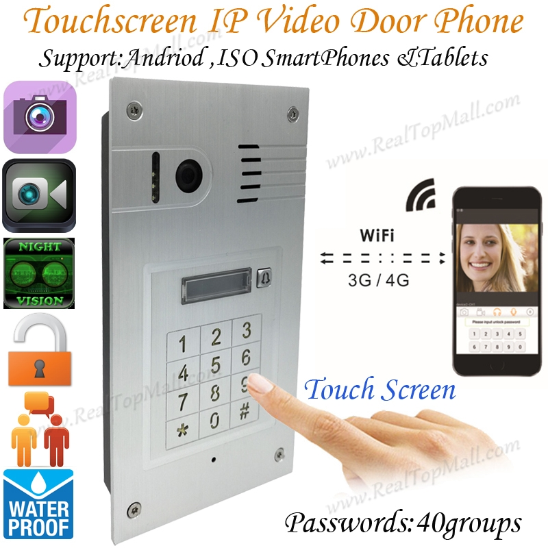 Touch screen Global wireless video door phone WIFI doorbell intercom digital camera smart phone control night vision wifiTouch screen Global wireless video door phone WIFI doorbell intercom digital camera smart phone control night vision wifi