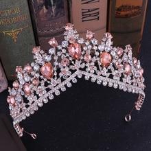 New Korean full water diamond wedding crown popular hot bride Deluxe A+ zircon tiara queen celebration party bridesmaid