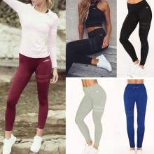 7c3006e4c5f3d 2018 New Arrival Ladies Women Fitness Stripe Print Casual Pants Elastic Cool  Dry Fashion Causal Leggings