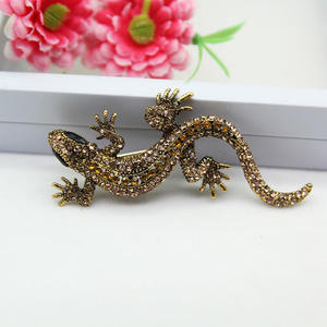 Punk Lizard Brooch Fashion Party Suit Shirt Decoration Pin For Women Men Clothes Accessories Gift