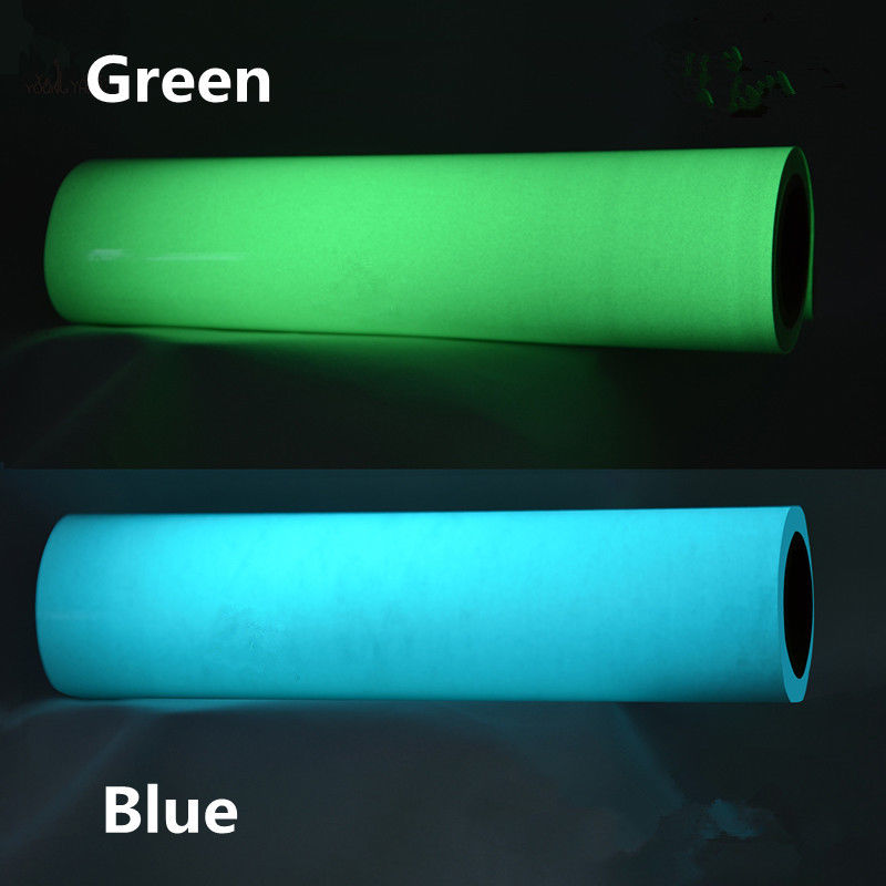 Glow in the dark Heat Transfer Vinyl cutting film Glow In The Dark Green For Fabric 0.5x3m(20inx10ft) 3 meters glow in the dark luminous vinyl heat trasnfer film vinyl the light green color in daytime
