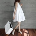 Maternity women dresses pregnant summer white fashion cute maternity clothes sleeveless gowns for pregnant women