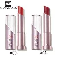 Brand CHARM ZENUS Women Beauty Makeup Lipstick Waterproof Long Lasting Color Moisturizing Silky Red Sexy