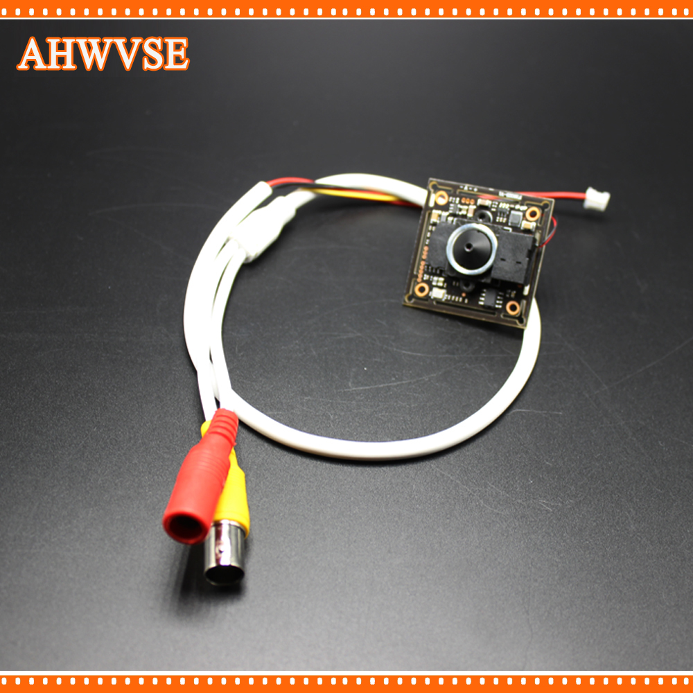 AHWVSE 4pcs/lot Wide Angle 3.7mm lens CCTV AHD Camera Mini Module wit BNC Cable