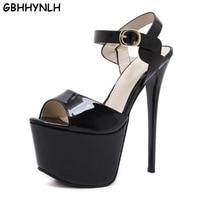 GBHHYNHL Fashion Summer Women High Heels Sandals Sexy Stripper heels Shoes Party Pumps Shoes Women Gladiator Sandals LJA291