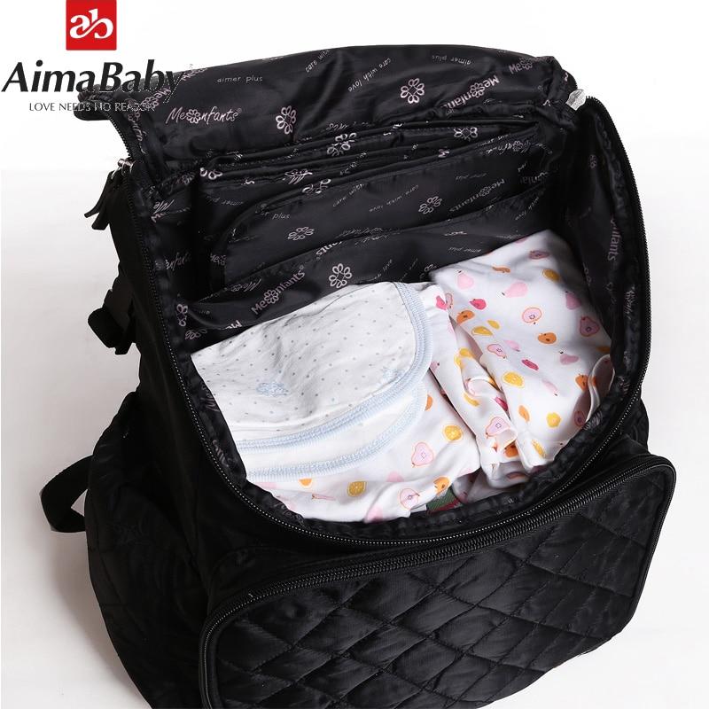 Bolsa de pañales grande Mochila impermeable Bolsa de bebé - Pañales y entrenamiento para ir al baño - foto 3