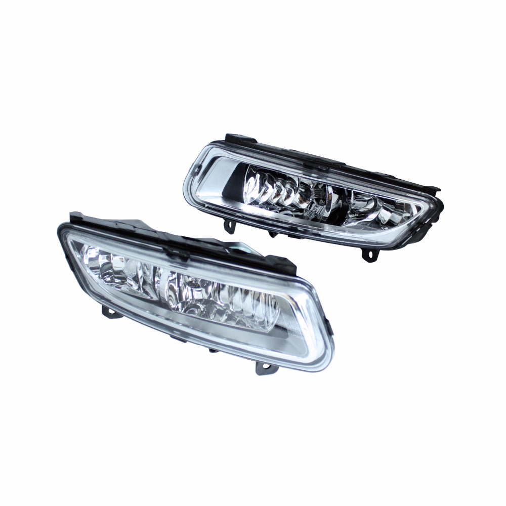 12V Car Light Front Bumper Grilles Lamp Fog Light For Volkswagen VW Polo Hatchback 6R 2009-2014 Car Styling free shipping new pair halogen front fog lamp fog light for vw t5 polo crafter transporter campmob 7h0941699b 7h0941700b