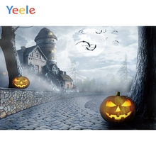 Yeele Halloween Party Castle Moon Pumpkin Customized Photography Backdrop Personalized Photographic Backgrounds For Photo Studio