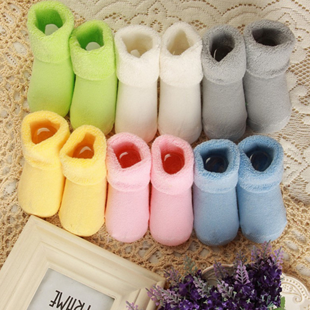 Newborn 0-2 Years 1 pair Baby Girl Boy Toddler Infant Winter Warm boots Toddler Infant Soft Socks Booties shoes