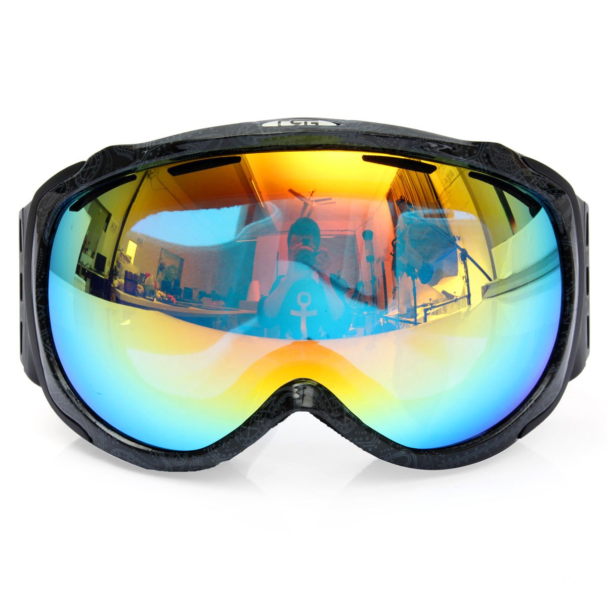 Unisex Professional Spherical Anti fog Dual Lens Outdoor Snowboard font b Ski b font Goggles font